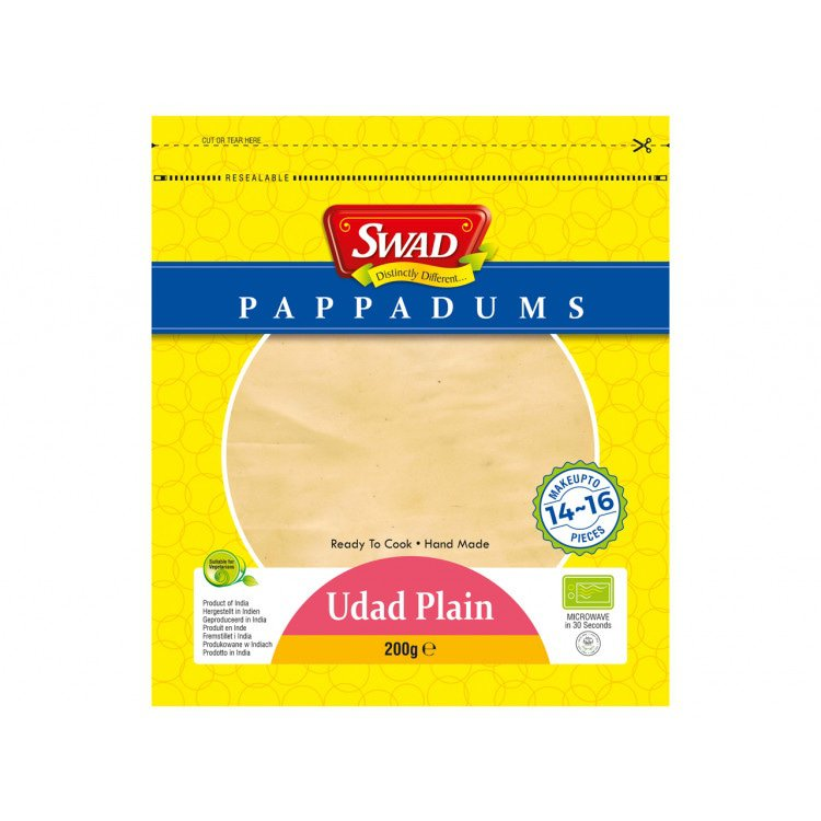 Papadums naturel 200 g