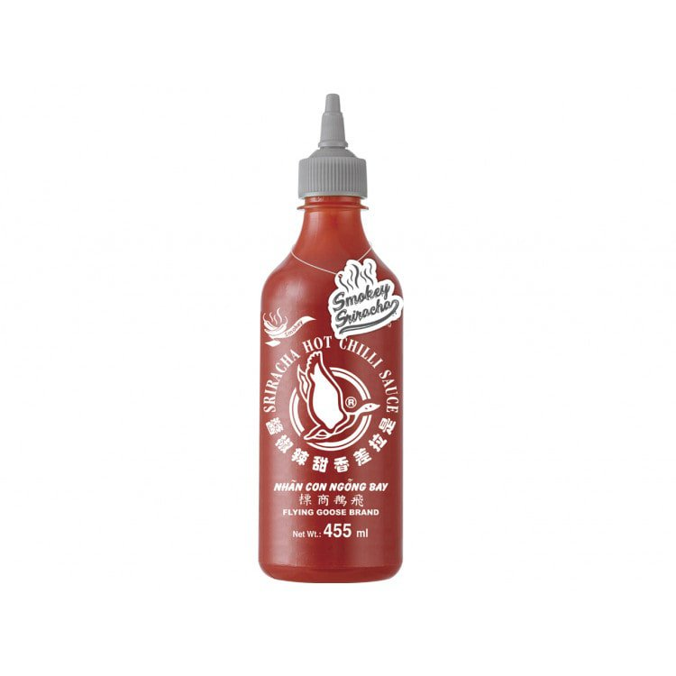 Flying Goose Srirachasaus rooksmaak 455 ml