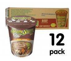 Yum Yum Cup Noodles Beef - 12-pack